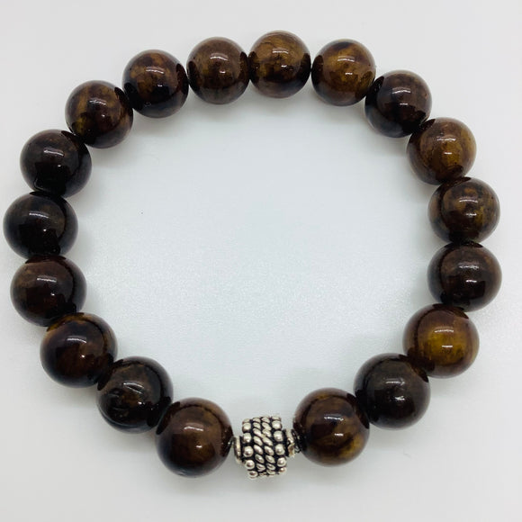 Man's Bead Stretch Bracelet