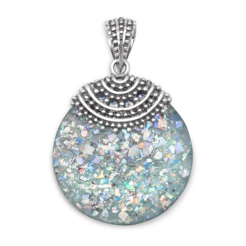 Roman Glass Beaded Top Pendant from Miles Beamon Jewelry - Miles Beamon Jewelry