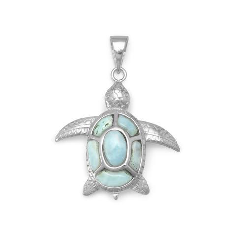 Larimar Turtle Pendant from Miles Beamon Jewelry - Miles Beamon Jewelry