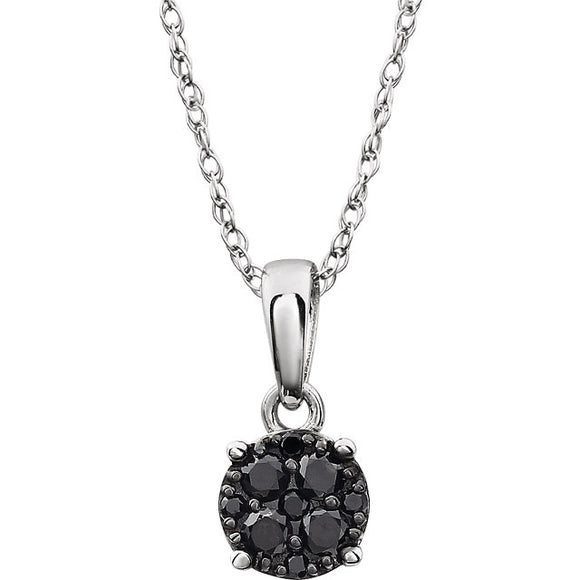 14K White Black Diamond Necklace from Miles Beamon Jewelry - Miles Beamon Jewelry