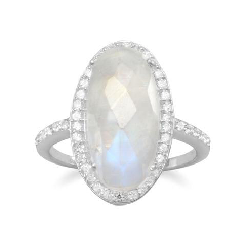 Sterling Silver Rainbow Moonstone Ring from Miles Beamon Jewelry - Miles Beamon Jewelry