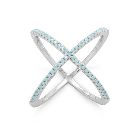 Sterling Silver Criss Cross X Ring from Miles Beamon Jewelry - Miles Beamon Jewelry