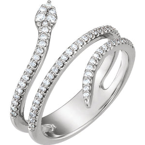 Sterling Silver Diamond Snake Ring from Miles Beamon Jewelry - Miles Beamon Jewelry