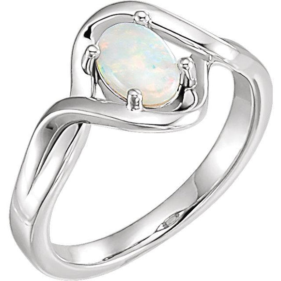 Sterling Silver Opal Freeform Ring from Miles Beamon Jewelry - Miles Beamon Jewelry