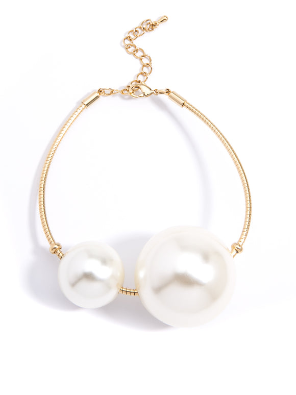 Fashion Stacks Of Pearls Bracelet - Pearl