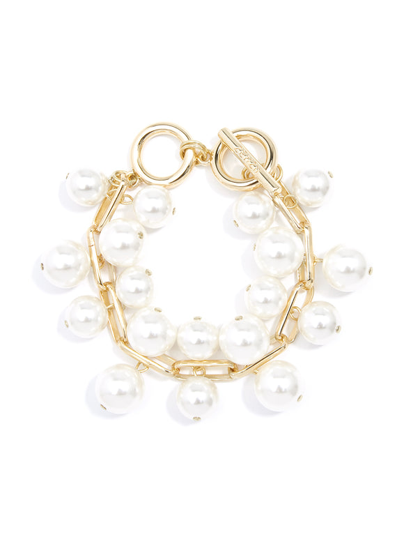 Fashion Pearl And Chain Bracelet