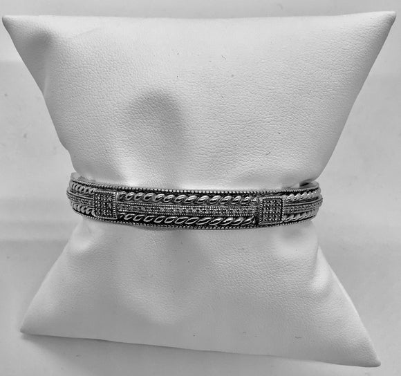 SS Diamond Multi-Row Bangle Bracelet (1-1/2 ct. t.w.)
