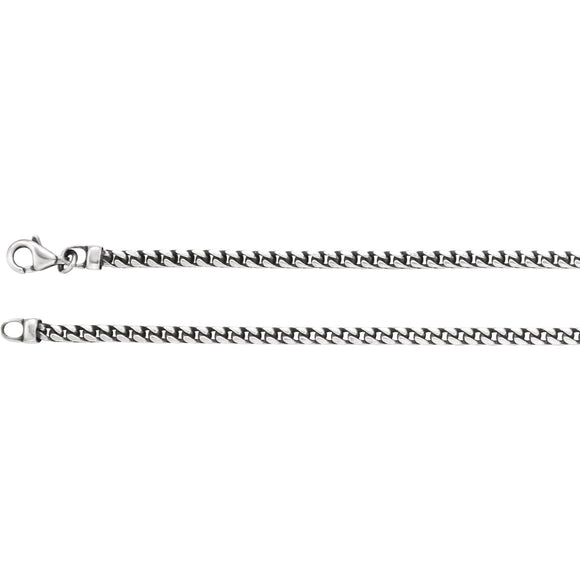 Sterling Silver 3mm Franco 24