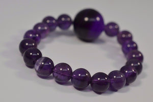 "Amethyst ""Comforter Fit"" Stretch Bracelet from Miles Beamon Jewelry - Miles Beamon Jewelry"