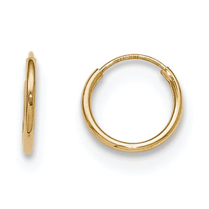14K Yellow Gold Madi K Hoop Earrings