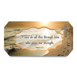 Phillippians 4:13 Footprints Music Box from Miles Beamon Jewelry - Miles Beamon Jewelry