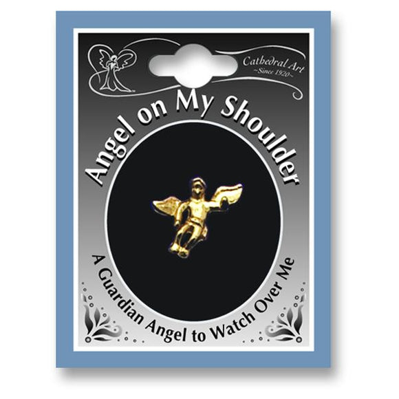 Angel On My Shoulder Lapel Pin from Miles Beamon Jewelry - Miles Beamon Jewelry