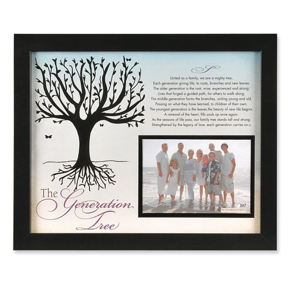 The Generation Tree Black Photo Frame from Miles Beamon Jewelry - Miles Beamon Jewelry