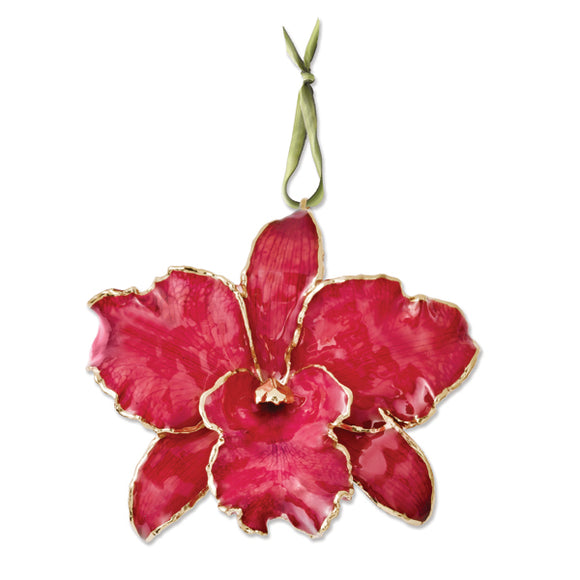 Red Cattleya Orchid Ornament from Miles Beamon Jewelry - Miles Beamon Jewelry