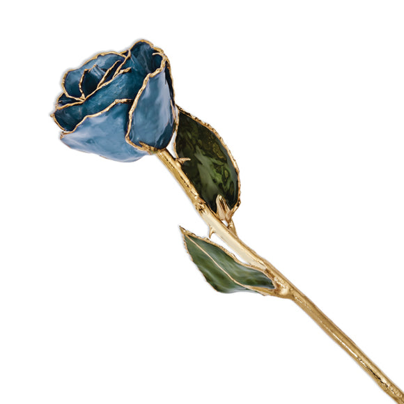 Gold Trimmed Navy Pearl Rose from Miles Beamon Jewelry - Miles Beamon Jewelry