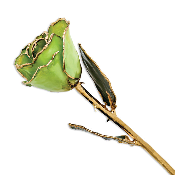Gold Trimmed Peridot/Topaz Rose from Miles Beamon Jewelry - Miles Beamon Jewelry