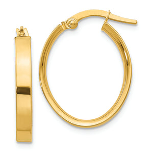 14K Yellow Gold Oval Hoop Earrings from Miles Beamon Jewelry - Miles Beamon Jewelry