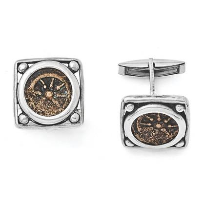 Sterling Silver Antiqued Widows Mite Coin Cuff Links from Miles Beamon Jewelry - Miles Beamon Jewelry