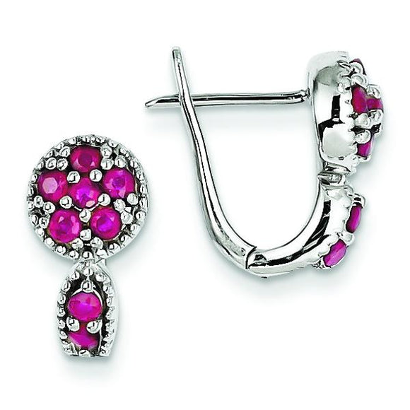 Sterling Silver Ruby Hinged Earrings from Miles Beamon Jewelry - Miles Beamon Jewelry
