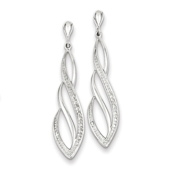 Sterling Silver Diamond Post Earrings from Miles Beamon Jewelry - Miles Beamon Jewelry