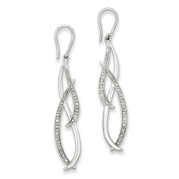 Sterling Silver Diamond Dangle Earrings from Miles Beamon Jewelry - Miles Beamon Jewelry