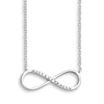Sterling Silver Cubic Zirconia Infinity Necklace from Miles Beamon Jewelry - Miles Beamon Jewelry