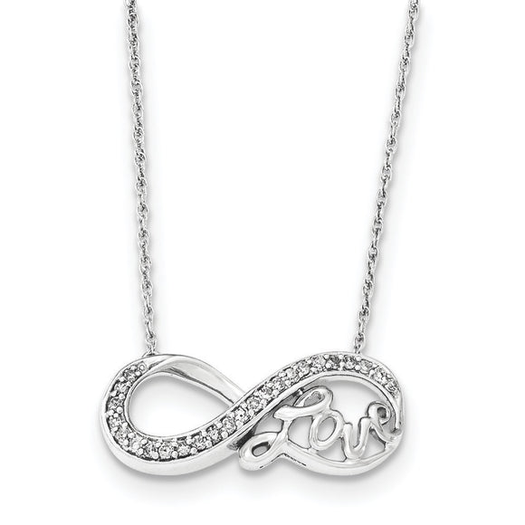 Sterling Silver Diamond Infinity Love Necklace from Miles Beamon Jewelry - Miles Beamon Jewelry