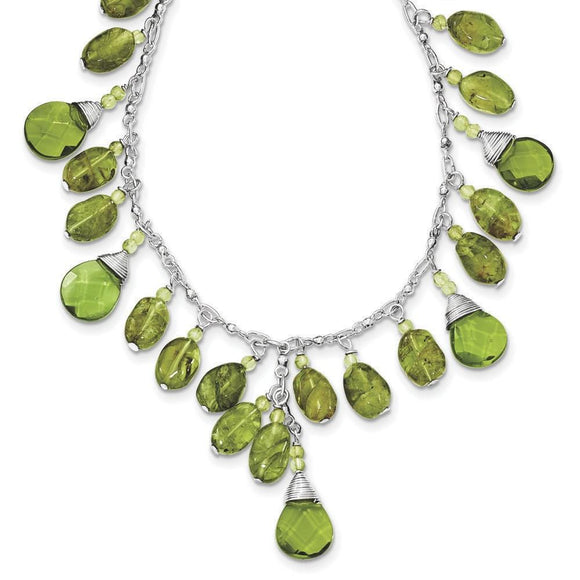 Sterling Silver Peridot Necklace from Miles Beamon Jewelry - Miles Beamon Jewelry