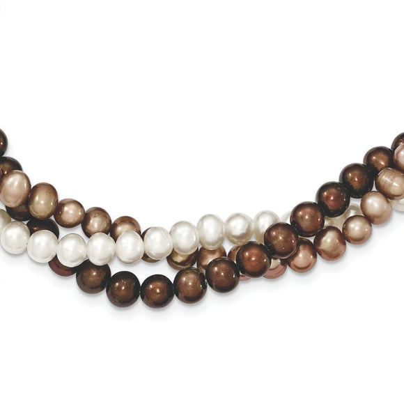 Sterling Silver Freshwater Cultured Potato Pearl Necklace from Miles Beamon Jewelry - Miles Beamon Jewelry