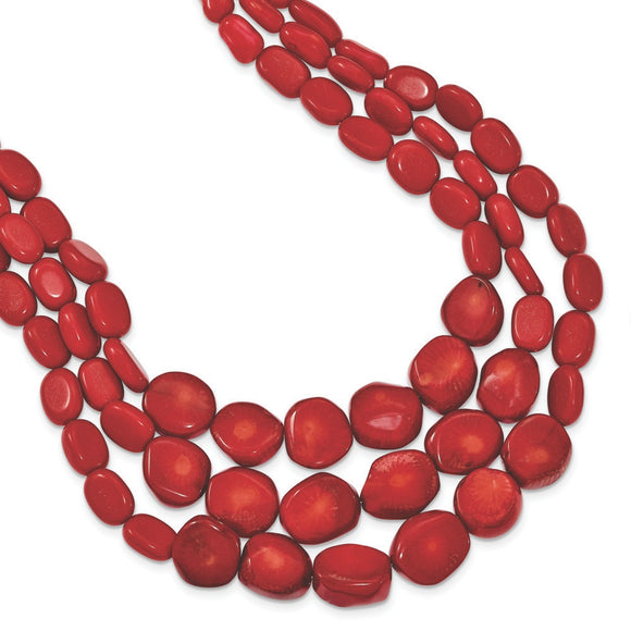 Sterling Silver Red Coral Necklace from Miles Beamon Jewelry - Miles Beamon Jewelry