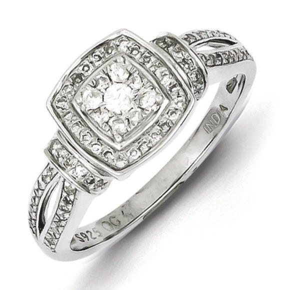 Sterling Silver Rhodium Diamond Ring from Miles Beamon Jewelry - Miles Beamon Jewelry