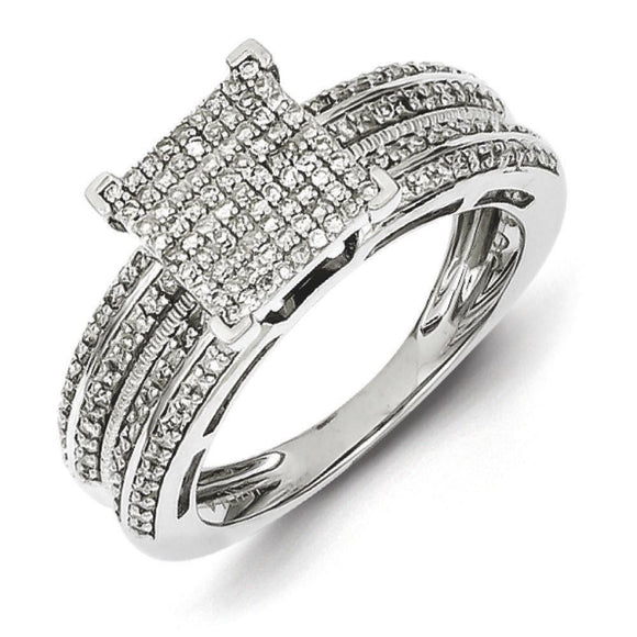 Sterling Silver Diamond Square Ring from Miles Beamon Jewelry - Miles Beamon Jewelry