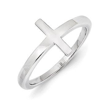 Sterling Silver Sideways Cross Ring from Miles Beamon Jewelry - Miles Beamon Jewelry