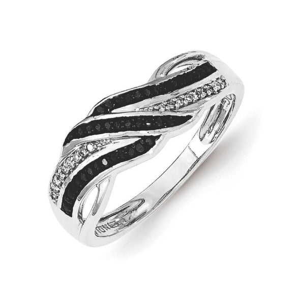 Sterling Silver Black And White Diamond Ring from Miles Beamon Jewelry - Miles Beamon Jewelry