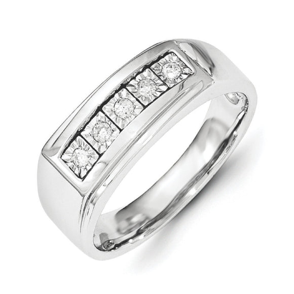 Sterling Silver Men's Diamond Ring from Miles Beamon Jewelry - Miles Beamon Jewelry