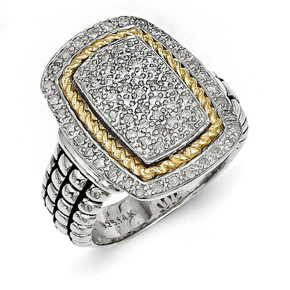 Sterling Silver With 14KY Diamond Ring from Miles Beamon Jewelry - Miles Beamon Jewelry