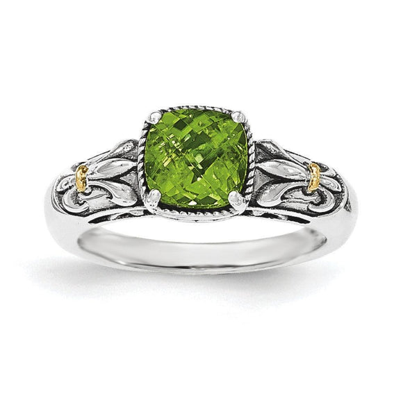 Sterling Silver With 14K Genuine Peridot Ring from Miles Beamon Jewelry - Miles Beamon Jewelry