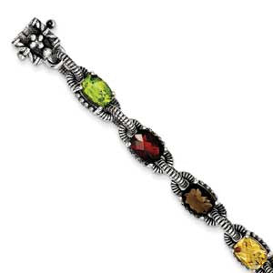 Sterling Silver Multi-Gemstone Bracelet from Miles Beamon Jewelry - Miles Beamon Jewelry