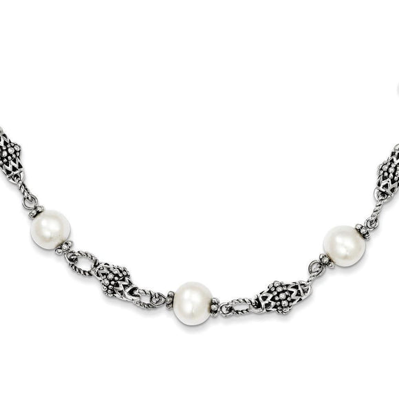 Sterling Silver Freshwater Cultured Pearl Necklace from Miles Beamon Jewelry - Miles Beamon Jewelry