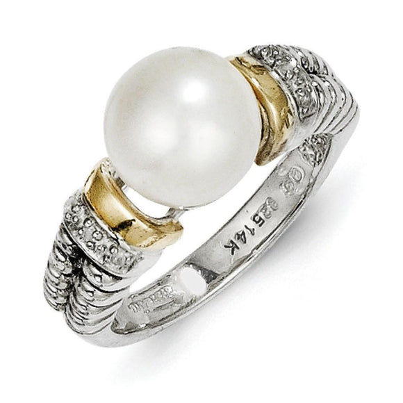 Sterling Silver With 14K FW Cultured Pearl Ring from Miles Beamon Jewelry - Miles Beamon Jewelry