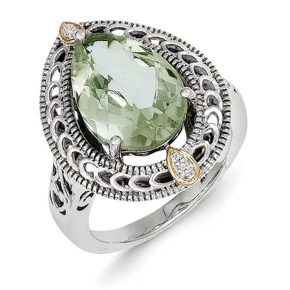 Sterling Silver With 14K Ring from Miles Beamon Jewelry - Miles Beamon Jewelry