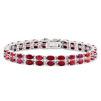 Sterling Silver Ruby Bracelet from Miles Beamon Jewelry - Miles Beamon Jewelry