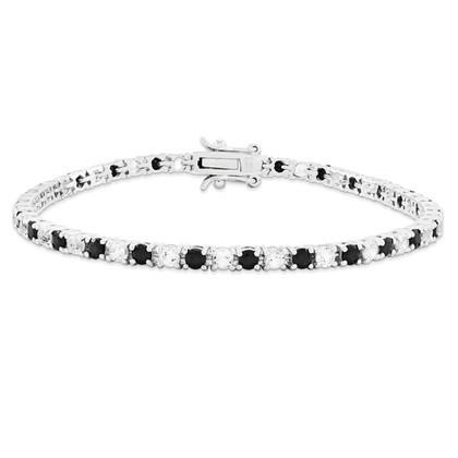 Sterling Silver Sapphire And White Topaz Tennis Bracelet from Miles Beamon Jewelry - Miles Beamon Jewelry