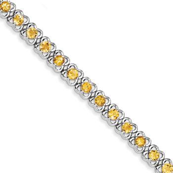 Sterling Silver Citrine Bracelet from Miles Beamon Jewelry - Miles Beamon Jewelry