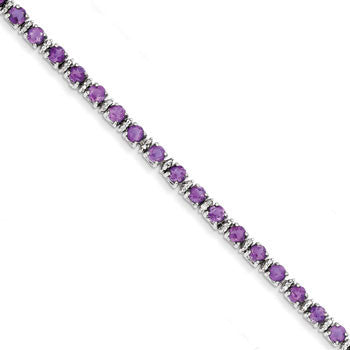 Sterling Silver Amethyst Bracelet from Miles Beamon Jewelry - Miles Beamon Jewelry