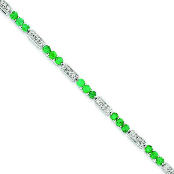 Sterling Silver Emerald Bracelet from Miles Beamon Jewelry - Miles Beamon Jewelry