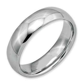 Stainless Steel Half Round Band Ring from Miles Beamon Jewelry - Miles Beamon Jewelry