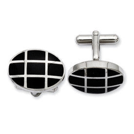 Stainless Steel Cuff Links from Miles Beamon Jewelry - Miles Beamon Jewelry