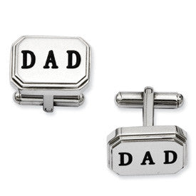 Stainless Steel Dad Cuff Links from Miles Beamon Jewelry - Miles Beamon Jewelry
