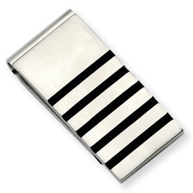 Stainless Steel With Rubber Accents Money Clip from Miles Beamon Jewelry - Miles Beamon Jewelry